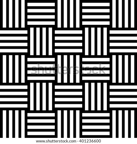 Black and white geometric lines pattern background. Vector illustration