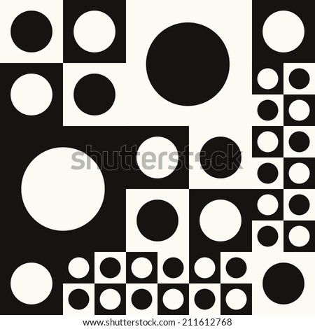 Black and White geometric pattern. Seamless - stock vector