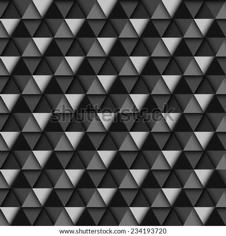 Black and White Geometric Pattern, vector eps10 illustration - stock vector