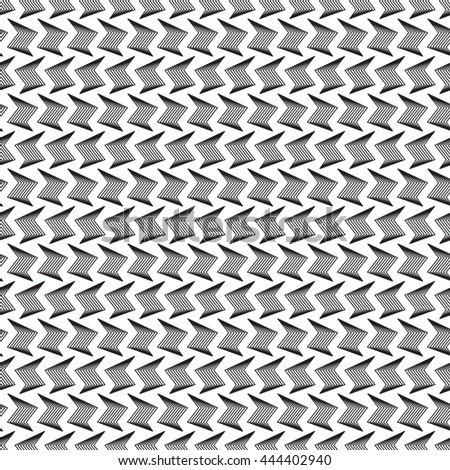 Black and white geometric seamless pattern. - stock vector