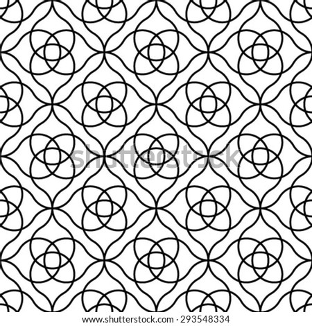 Black and white geometric seamless pattern in modern stylish. Abstract background. Vector seamless pattern. - stock vector