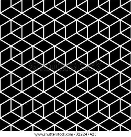 Black and white geometric seamless pattern in modern stylish. Abstract background. Vector seamless pattern.