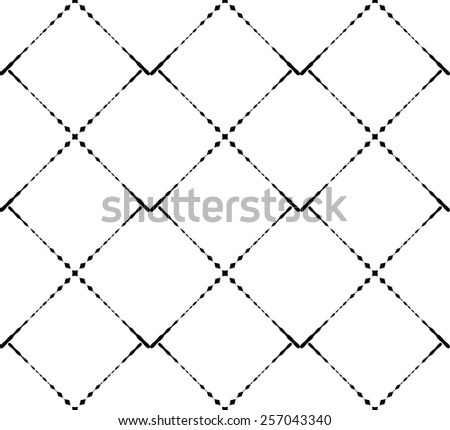 Black and white geometric seamless pattern modern stylish, abstract background, vector, illustration.