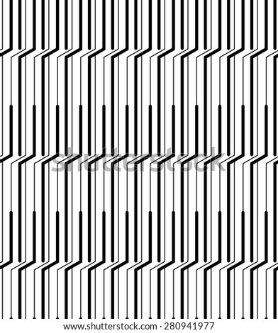 Black and white geometric seamless pattern modern stylish with line. Abstract background. Vector seamless pattern.