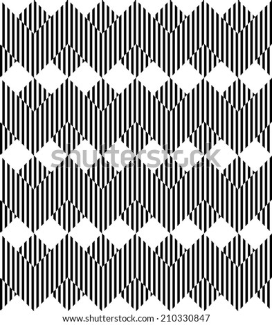 Black and white geometric stripe seamless pattern abstract background, vector, eps10.