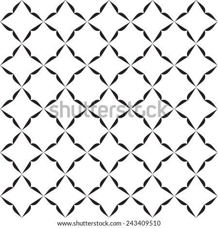 Black and White graphic  seamless  pattern for abstract vector background.