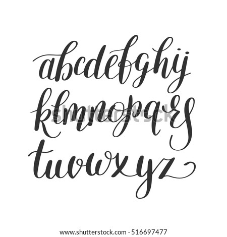 Cursive Alphabet Stock Images, Royalty-Free Images & Vectors ...