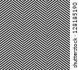 Black and white herringbone fabric seamless pattern, vector - stock photo