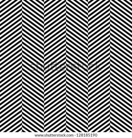 Black and white herringbone fabric seamless pattern, vector - stock vector