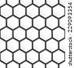 Black and white hexagon abstract seamless pattern background. Vector illustration - stock vector