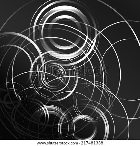 Black and white hypnotic background. BLACK AND WHITE CIRCLES - stock vector
