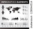 Black and white infographic set - stock vector