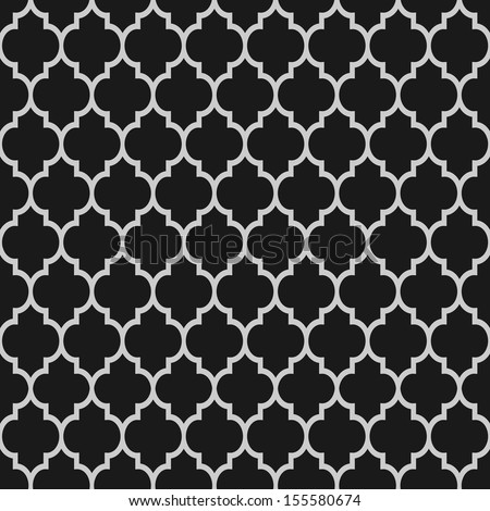 Black and white islamic seamless pattern. Vector background  - stock vector