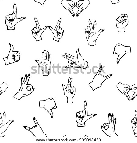 Black White Isolated Seamless Pattern Doodle Stock Vector Royalty