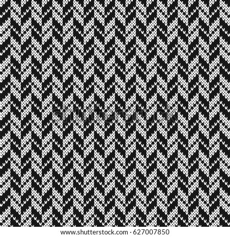 Black and white jacquard seamless knitting pattern goose pads