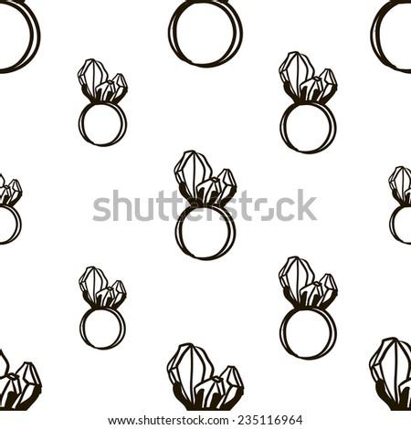 Jewelry Black Icons Set Luxury Jewels Stock Vector ...