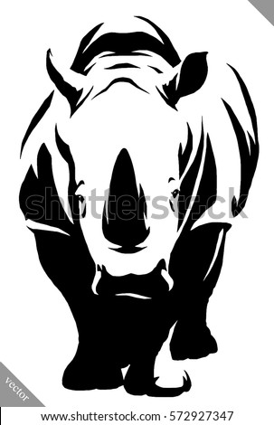Rhino face stock images royalty free images vectors shutterstock black and white linear paint draw rhino vector illustration ccuart Gallery