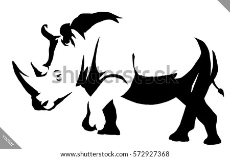 Rhino sketch stock images royalty free images vectors black and white linear paint draw rhino vector illustration ccuart Gallery