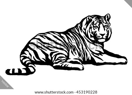 Tiger Head Outline Stock Images, Royalty-Free Images ...