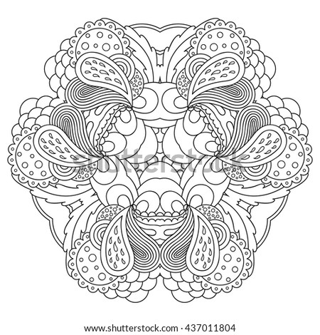 Black and white mandala. Vector template for decorating greeting cards, wedding invitations, coloring books, art therapy, anti stress.