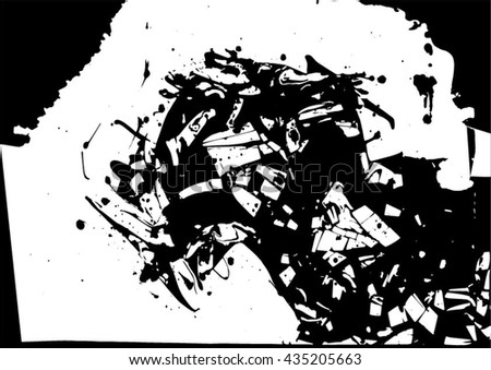Black and white marble abstract texture background.