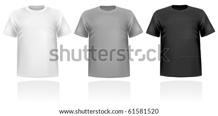 Black, and white men polo shirts. Photo-realistic vector illustration - stock vector