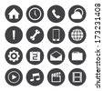 Black and White mobile icons set.Vector EPS10 - stock vector