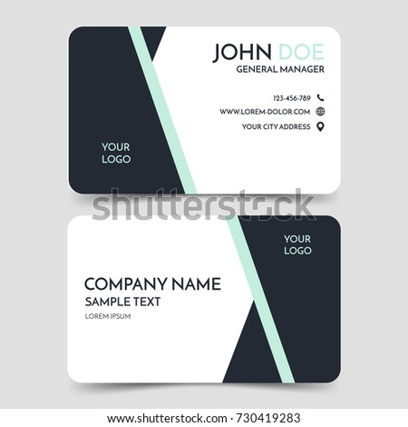 Black white modern business card template stock vector 730419283 black and white modern business card template vector minimal corporate identity card design eps10 reheart Gallery