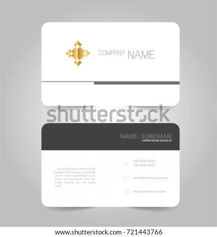 Black white modern business name card stock vector royalty free black and white modern business name card name card template vector design colourmoves