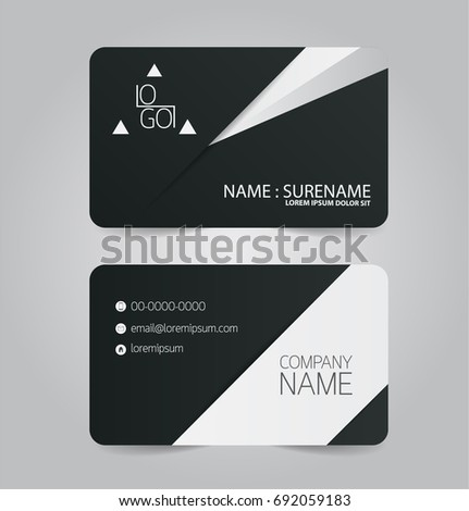 Black white modern business name card stock photo photo vector black and white modern business name card template fbccfo Choice Image