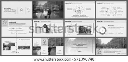 Black and white monochrome infographics elements for  Presentation templates. Use in presentation, flyer and leaflet, corporate report, marketing, advertising, annual report, banner.
