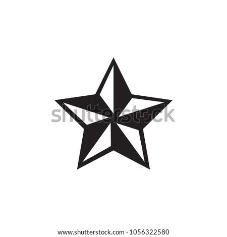 black white nautical star stock vector 1056322580 shutterstock rh shutterstock com nautical star vector free Murder Mitten Vector