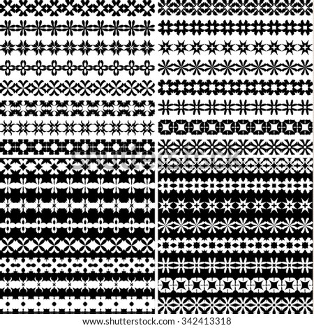 Black and white ornamental designs
