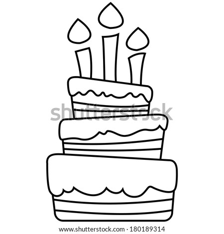 Cake Outline Stock Images Royalty Free Images Amp Vectors