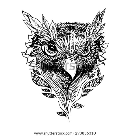 Black and white owl is...