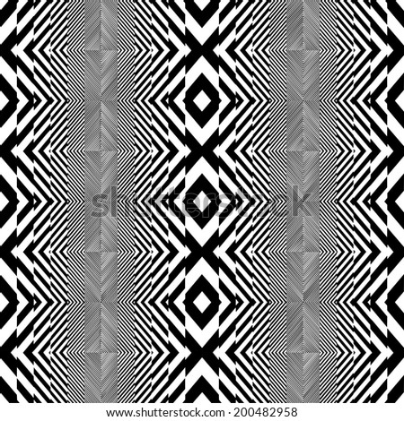Black And White Pattern Vector 54 - stock vector