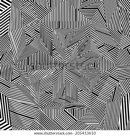 Black And White Pattern Vector 77 - stock vector