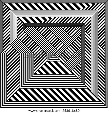 Black And White Pattern Vector 147 - stock vector