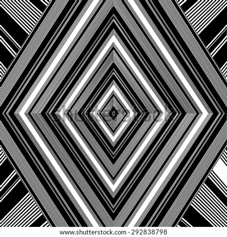Black And White Pattern Vector 161 - stock vector