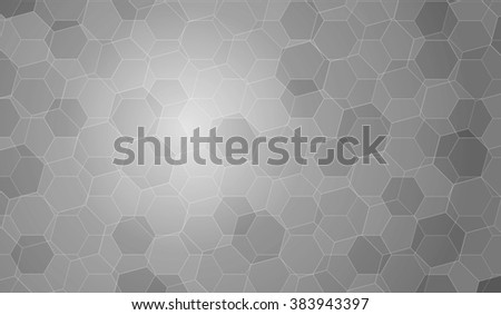 Black and white Polygon vector background