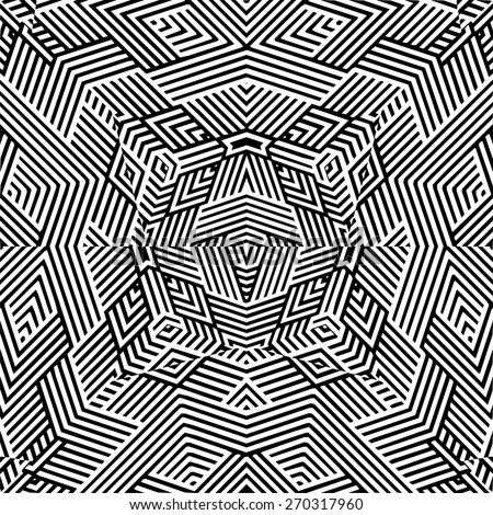 Black And White Pyramid Pattern Vector 159 - stock vector