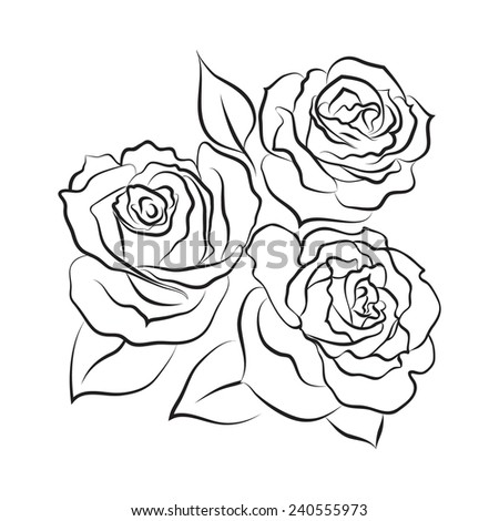 Black And White Roses Design