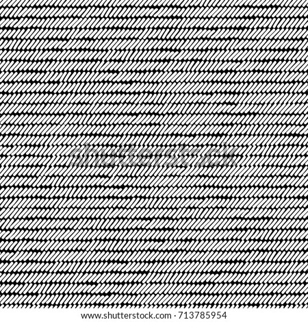 black and white rug woven striped fabric seamless pattern vector