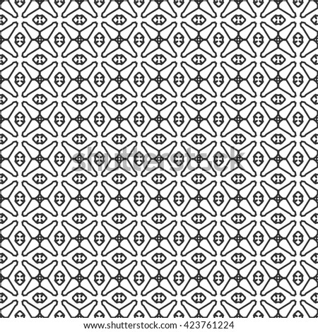 Black and white seamless line pattern. Contemporary graphic design. Vector monochrome stylish geometric seamless texture for wallpaper, pattern fills, web page background. Tribal ethnic ornament