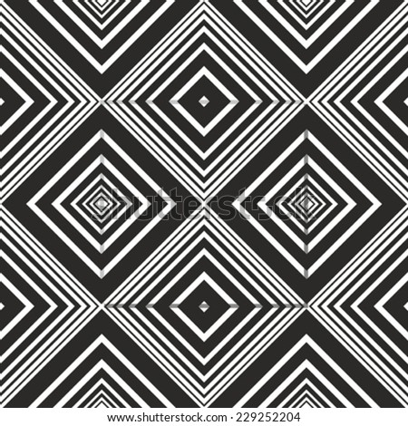 Black and white seamless pattern - stock vector