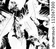 Black and white seamless pattern  Abstract seamless pattern with leaves - stock vector