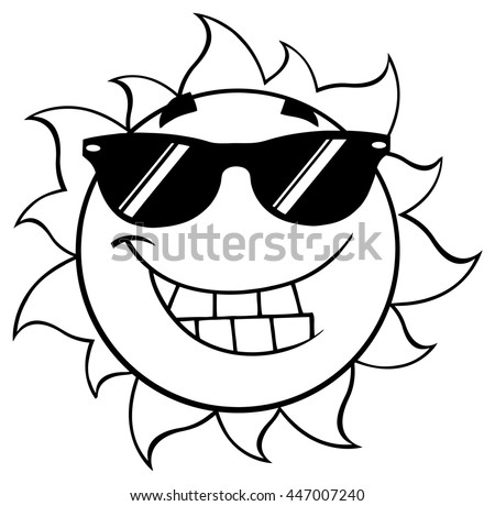 Sunglasses Logo Black And White Vector Isolated...