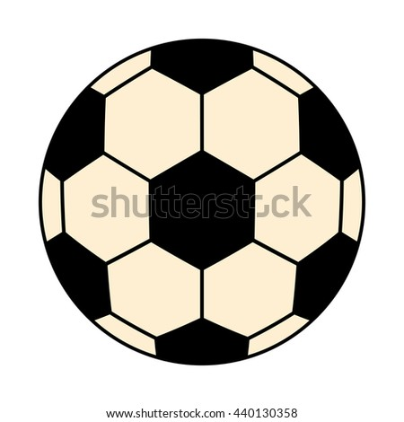 black and white socces ball front view over isolated background,vector illustration - stock vector
