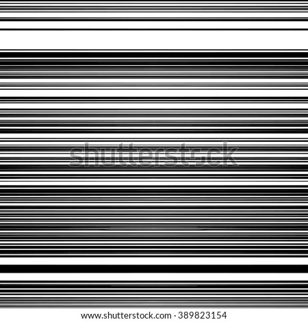 Black and White Striped Background. Monochrome Colors Stripes. Straight Horizontal Lines. Thin stripe optical design. Abstract pattern with Grayscale colors for textile, paper and wrapping. - stock vector
