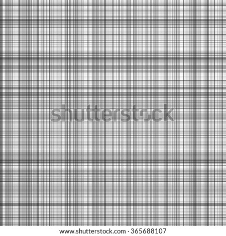 Black and white stripes vector plaid